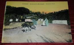 TANGER, TANGIER, MAROC, MOROCCO- ROUTE DE LA MONTAGNE, MOUNTAIN'S ROAD- RARE ORIGINAL OLD POSTCARD - Tanger