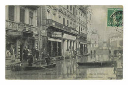 CPA 71 CHALON SUR SAONE INONDATION DES 17 ET 18 NOVEMBRE 1913 RUE DE L'OBELISQUE - Chalon Sur Saone