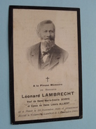 DP Léonard LAMBRECHT ( Devrye / Allaert ) Thielt 29 Nov 1828 - Woluwe St. Lambert 5 Dec. 1909 (zie Foto´s) ! - Religion & Esotérisme