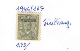 Cina Pop.1944 Sun Yat Ovpr..  Scott.167 Nuovi See Scan - Sinkiang 1915-49