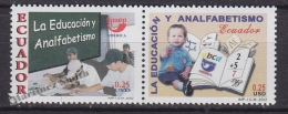 Ecuador - Equateur 2002 Yvert 1694-95, America UPAEP, Education - MNH - Equateur