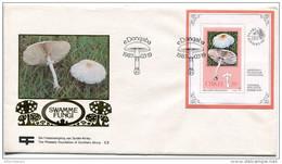 1987-CISKEI -FUNGI-CHAMPIGNONS ON F.D.C.. LUXE !! - Ciskei