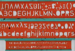 Lot De 3 Trace-Lettres (Schriftschablone, Lettering Guide, Plantilla Para Lettras) StandardgrapH - Autres