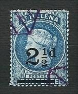 ST.HELENA 1884-94 - Queen Victoria - 2 ½ D/Six Pence Blue - Mi: Yv-SH 15 - Isola Di Sant'Elena