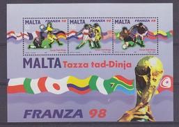 Malta 1998 World Cup Football France M/s ** Mnh  (35230C) - Malta