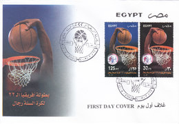 Egyot 2003, Basket-Ball Championship 2v.compl.set On Official FDC- Nice Topical Copver- RED. PR. SKRILL PAY - Egypt