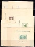 Grandes Séries Coloniales Françaises 24 Blocs Neufs ** MNH Expo Internationale 1937. B/TB. A Saisir!