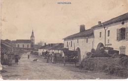 Senonges - Rue Principale (animation, Tas De Fumier, Voiture Hippomobile) Circulé 1911, Mauvais état - Autres Communes