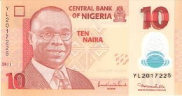 NIGERIA   10 Naira   2011   P. 39c   UNC - Nigeria