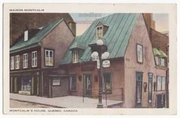 Quebec City QC PQ Canada, MAISON MONTCALM Historic House C1954 Vintage Postcard - Quebec