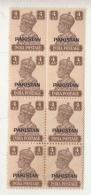 Pakistan Overprint  On  India  KG VI  4A X 8  2 Scans   #  94303  Inde  Indien