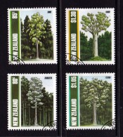 New Zealand 1989 Native Trees Set Of 4 Used - New Zealand