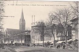 CPA 14 - CAEN - Boulevard St Pierre. Le Marché - Caen