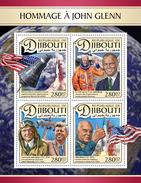 DJIBOUTI 2017 - J. Glenn, J.F. Kennedy. Official Issue
