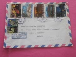 TAHITI-MATAURA-TUBUAI AUSTRALES-Océanie Nouvelle-Calédonie 1980-89 Lettre  & Timbre Collection N° 136-134-133-132-143 - Lettres & Documents