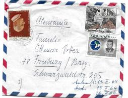 30864 - Enveloppe Envoyée De Colombie En Suisse - 1 Timbre Kennedy