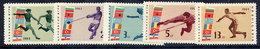 BULGARIA 1963 Balkan Games MNH / **.  Michel 1399-1403 - Unused Stamps