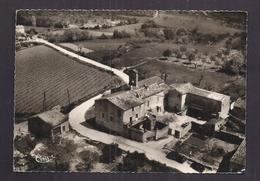 CPSM 30 - GATTIGUES - AIGALIERS - Vue Aérienne - Hameau De Gattigues - TB PLAN D'en Haut Tout Petit Village - France