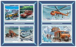 MOZAMBIQUE 2017 - Special Transport In Antarctic. M/S + S/S. Official Issue - Other Means Of Transport