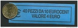 ITALIA  2009 - ROLL 10 CENT  ORIGINALE ZECCA - DATA VISIBILE - FDC - Rotolini