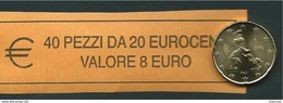RARO  20 CENT ITALIA  2015 - ROLL  ORIGINALE ZECCA - DATA VISIBILE - FDC - Rollos