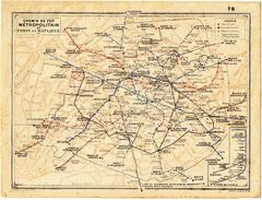 Plan Du Chemin De Fer Métropolitain De Paris Et Carte Du Département De Seine Et Oise -  Provenant D'un Calendrier  1966 - Cartes