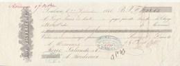 Lettre Change 27/9/1846 VIGUERIE  TOULOUSE Haute Garonne Pour Boué Lalande Vins Bordeaux Gironde - Lettres De Change