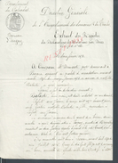 ISIGNY SUR MER 1878 ACTE DE DECLARATION Mr DESMARETS  2 PAGES : - Manuscrits