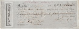 Lettre Change 18/1/1854 VIGUERIE  TOULOUSE Haute Garonne Pour Boué Lalande Vins Bordeaux Gironde - Lettres De Change