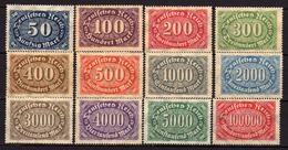 Deutsches Reich, 1922, Mi 246-257 * [240317L]