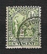 St.VINCENT 1907 - Pax Et Iustitia - ½ D. - Mi:VC 70 - St.Vincent (1979-...)