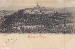103- CARTOLINA - RICORDO DI FIRENZE - CERTOSA - CARTOLINA PERIODO FINE '800 - VIAGGIATA IL 21-9-1900 - Firenze