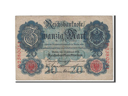 Allemagne, 20 Mark, 1914, KM:46b, 1914-02-19, TB+ - 20 Mark
