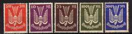 Deutsches Reich, 1923, Mi 263 *; 264-267 ** Flugpost / Air Mail [240317L]