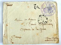 """Enveloppe + Lettre , Depuis HUSSEIN-DEY (ALGERIE), Cachet """"82e Bataillon Du Génie, Compagnie De Parc"""", 1940 (Env 211) - Guerre De 1939-45"""