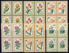 BULGARIA 1960 Flowers In Blocks Of 4 MNH / **.  Michel 1164-69 - Bulgaria