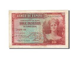 Espagne, 10 Pesetas, 1935, KM:86a, 1935, TTB - [ 2] 1931-1936 : Repubblica