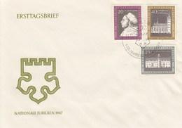 DFDC 1317-19 450 Jahre Des Thesenanschlages An Der Schloßkirche Wittenberg 1967, Berlin - FDC: Sobres