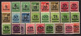 Deutsches Reich, 1923, Mi 277-296 */** (Mi 278 Y *); (Mi 282 I + II; Mi 287 A + B; 299 I + II; Mi 289 A+ B) [240317L]