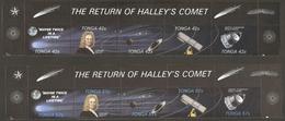 Tonga 1986, Halley's Comet Komet Solar System Grotto Satellite Sonnensystem 10 Values MNH