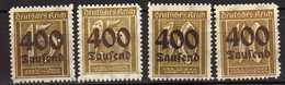 Deutsches Reich, 1923, Mi 297-300 **/* [240317L]