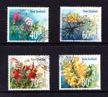 New Zealand 1989 Wildflowers Set Of 4 Used - New Zealand