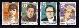 New Zealand 1989 Authors Set Of 4 Used - New Zealand