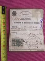 1940 CONDUTOR DE AUTOMOVEL (AMADOR) CERTIFICADO DE HABILITACAO DE MOTORISTA ESTADO DE SAO-PAULO PREFEITURA DE PARANAGUA - Documents Historiques