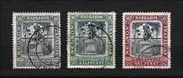 BARBADOS 1906 - Anniversary Of The Vbattle Of Trafalgar (Nelson Monument) - Sg:BB 145-47 - Barbados (1966-...)