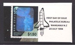 New Zealand 1994 Moon Landing Anniversary $1.50 Used - First Day Special Postmark - New Zealand