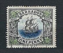 BARBADOS 1906 - The Olive Blossom Ship - One Penny - Yv:BB 83 - Barbados (1966-...)