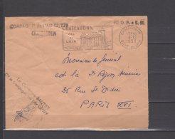 "Chateaudun - Cachet "" Compagnie De L'Air 02 / 279 ..."" - Lettre Signée Par Le Capitaine Bautier - 08 / 12 / 1958 - Military Postmarks From 1900 (out Of Wars Periods)"