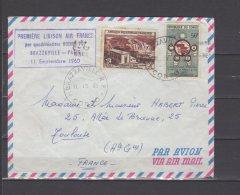 Première Liaison Air France Par Quadriréacteur Boeing 707 Brazzaville - Paris - 11/09/1960 - Airmail