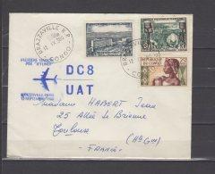 """Première Liaison Par """" Jetliner """"  Brazzaville - Paris - DC8 UAT  - 12 / 09 / 1960 - Airmail"""